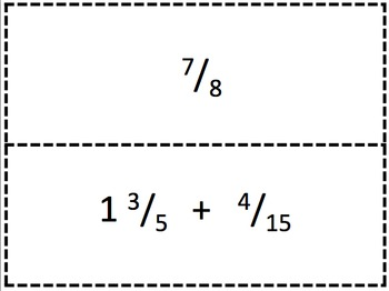 Adding and Subtracting Fractions Scavenger Hunt Activity