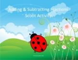 Adding and Subtracting Fractions Scoot Activity/Task Cards