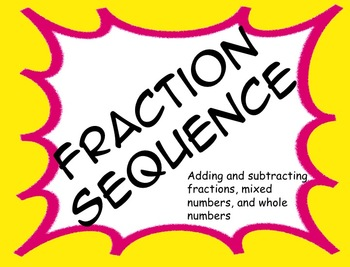 Adding and Subtracting Fractions Sequence