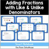 Adding Fractions with Like and Unlike Denominators Smart Board Lesson