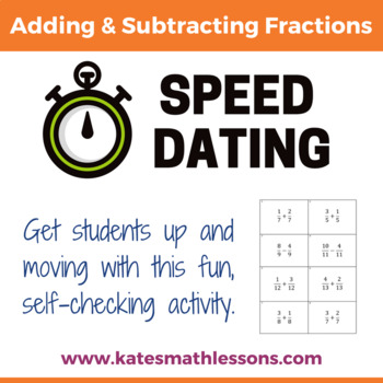 Adding and Subtracting Fractions Speed Dating Activity