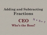 Adding and Subtracting Fractions Strategy - PowerPoint, Practice, and Vocabulary