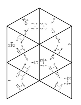 Adding and Subtracting Fractions Tarsia Puzzle