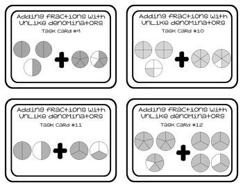 Fraction Task Cards Adding Fractions