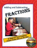 Adding and Subtracting Fractions Task Cards - Beginner Level
