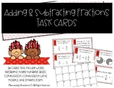 SOL 4.5b Adding and Subtracting Fractions Task Cards