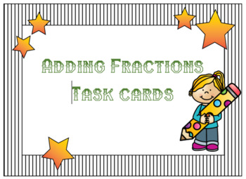 Adding Fractions Task Cards