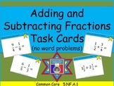 Adding and Subtracting Fractions Task Cards (Addition and