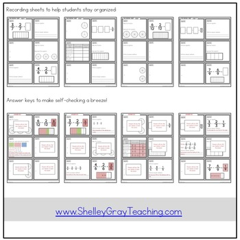 Adding and Subtracting Fractions Task Cards | Fraction Practice