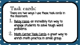 Adding and Subtracting Fractions Task Cards (Word Problem Relays)