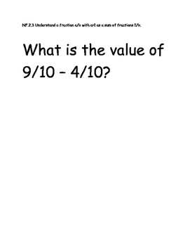 Adding and Subtracting Fractions Test Item Spec Questions