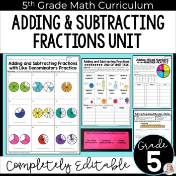 Adding and Subtracting Fractions Unit