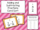 Adding and Subtracting Fractions (Unlike Denominators) Mat