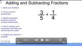 Adding and Subtracting Fractions Unlike Denominators Video