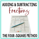Adding and Subtracting Fractions Using the Four-Square Method