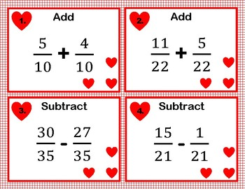 Adding and Subtracting Fractions With Common Denominators