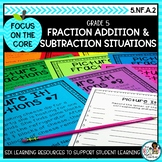 Adding and Subtracting Fractions Word Problems | Math Center Activities