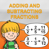 Adding and Subtracting Fractions Worksheet Maker