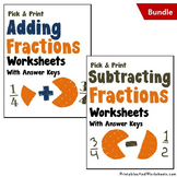 Mixed Numbers, Adding and Subtracting Fractions Worksheets