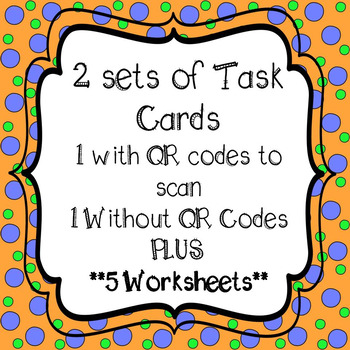 Adding and Subtracting Fractions and Mixed Numbers Task Cards and 5 Worksheets