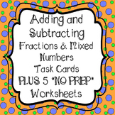 Adding and Subtracting Fractions and Mixed Numbers with Like Denominators