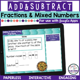 Adding and Subtracting Fractions and Mixed Numbers for use