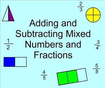 Adding and Subtracting Fractions and Mixed Numbers on the Number Line