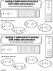 Adding and Subtracting Fractions (like denominators) Interactive Notebook Page