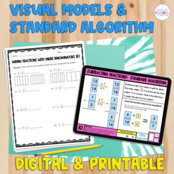 Adding and Subtracting Fractions packet - *Visual Models Included*