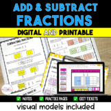 Adding and Subtracting Fractions with Visual Models