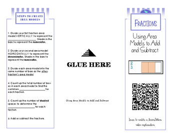 Adding and Subtracting Fractions using Area Models Brochure
