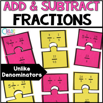 Adding and Subtracting Fractions w/ Unlike Denominators [M