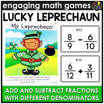 Adding and Subtracting Fractions with Different Denominators Game