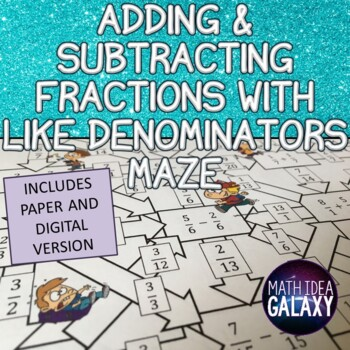 Adding and Subtracting Fractions with Like Denominators Activity