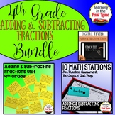 Adding and Subtracting Fractions with Like Denominators Bundle 4th Grade