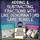 Adding and Subtracting Fractions with Like Denominators Ga