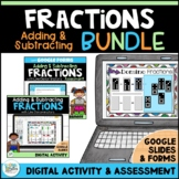 Adding and Subtracting Fractions BUNDLE for Google Classroom | Distance Learning