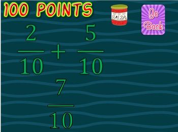 Adding and Subtracting Fractions with Like Denominators Knockout Game
