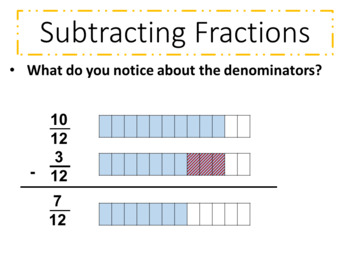 Adding and Subtracting Fractions with Like Denominators Lesson