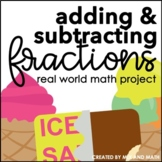 Adding and Subtracting Fractions Project | Distance Learning