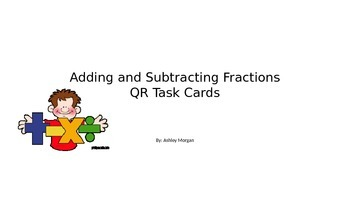 Adding and Subtracting Fractions with Like Denominators Ta