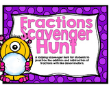 Adding and Subtracting Fractions with Like Denominators Using Models-Monsters