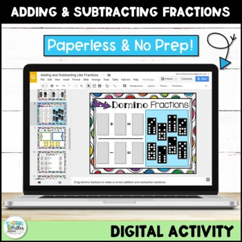 Adding and Subtracting Fractions with Like Denominators for Google Classroom