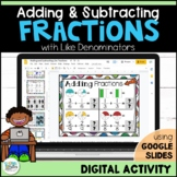 Adding and Subtracting Fractions for Google Classroom | Distance Learning