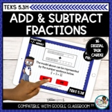 Adding and Subtracting Fractions with Models   Boom Cards