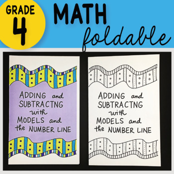 Math Doodle - Adding and Subtracting Fractions with Models & the Number Line