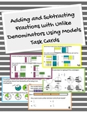 Adding and Subtracting Fractions with Models (unlike denom