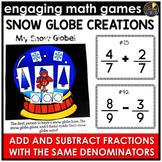 Adding and Subtracting Fractions - Same Denominators