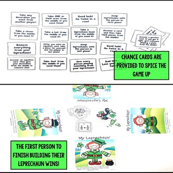 Saint Patrick's Day Adding and Subtracting Fractions Same Denominators Game