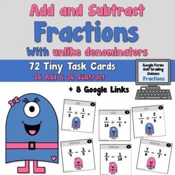 Adding and Subtracting Fractions with Unlike Denominators Distance Learning